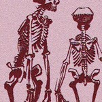 sad pink skeletons