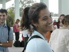 Sarah outside Cancun airport_Cuba 331