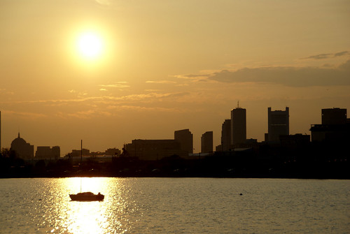 Sunset over Boston (Credit: Plutor on Flickr.com)