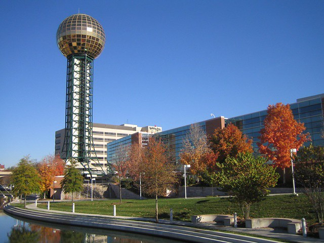 World's Fair Park Sunsphere in Knoxville
