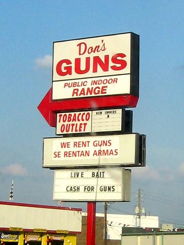 Live Bait. Cash for Guns.