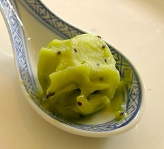 Kiwi avocado ice