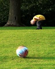 Caught ball-watching