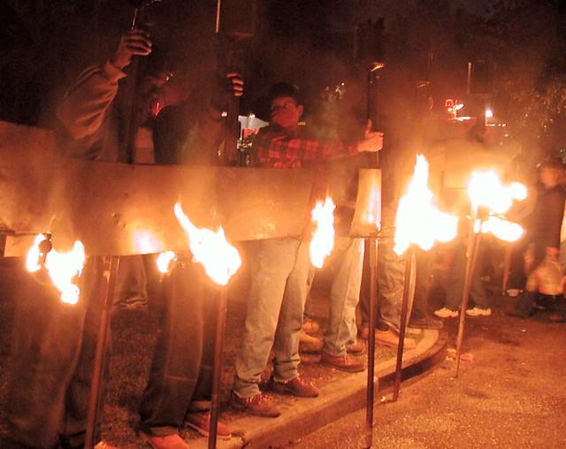 flambeauxnew orleans mardi grasbeginning of parade