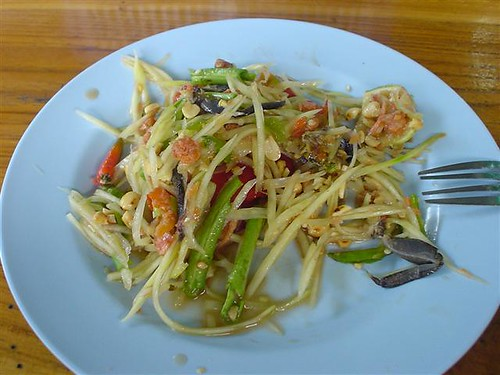 Papaya Salad - notice the salted crab legs