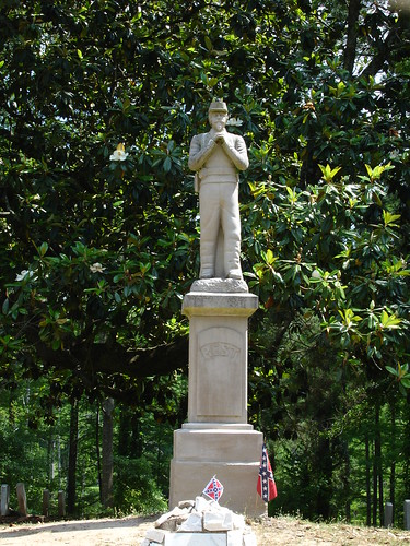 Statue at Confederate Cemetery at Friendship Cemetery, Columbus MS