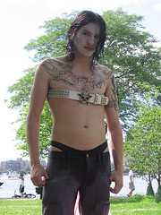 black hair, arm, chest, barechestedness, clothing, abdomen, muscle, limb, leg, trunk, photo shoot, thigh, navel, adult,