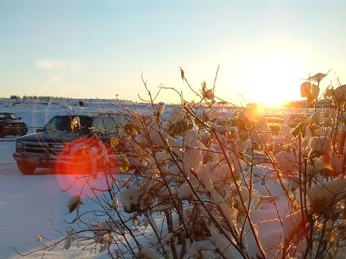 october dawsoncreek earlywinter snow sunrise