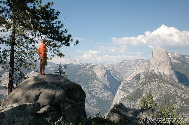 Half Dome from Glacier Point at Yosemite