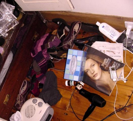 My sister's bedroom floor