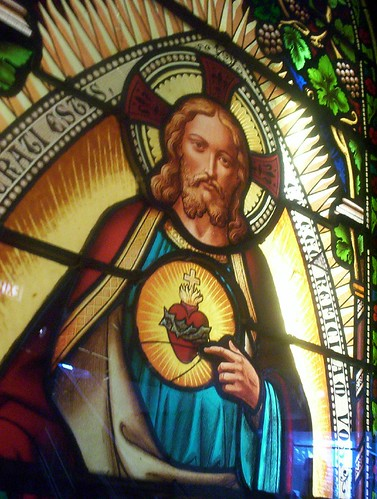 his sacred heart.