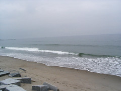 Tide going out - waves starting up