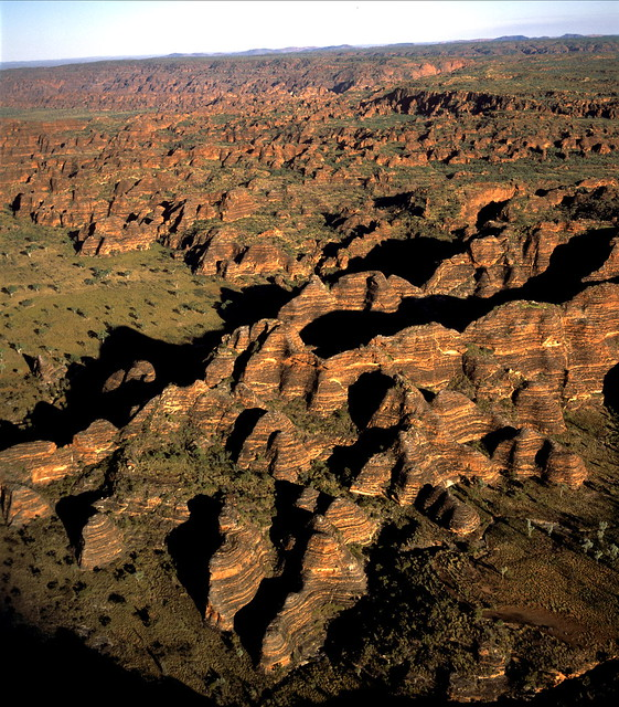 Western Australia, Purnululu National Park, Aerial view over the Bungle Bungle Ranges