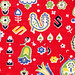 vintage fabric: red