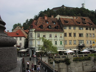 View of the Old Ljubljana and of the Castle