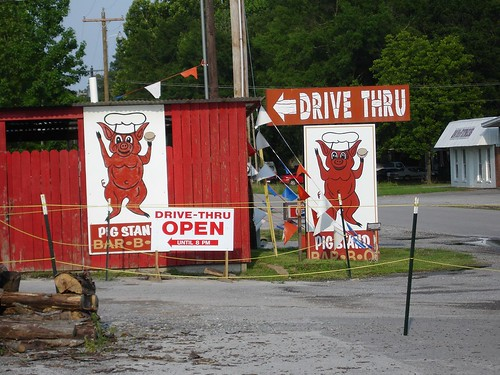 Drive-Thru Signs at Pig Stand BBQ in Hartselle AL