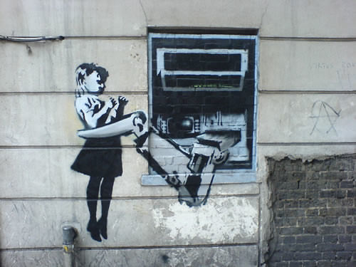 banksy graffiti london EC1