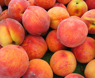 Peaches come from a can