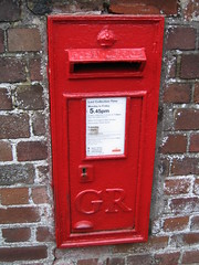 red, number, post box, letter box,