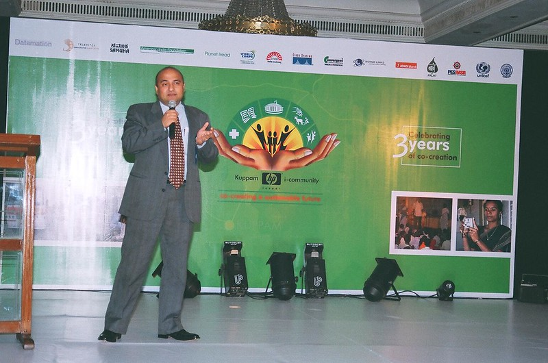 Anand Tawker speaking at the III anniversary event in Bangalore