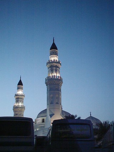 Minaret of Masjid Quba In Medina