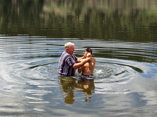 Baptism at Lake Roberts