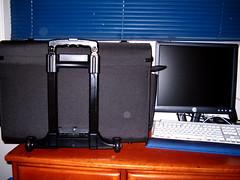 furniture, room, interior design, display device, suitcase,