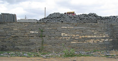 Walls built of the Special rocks.. called Cuddapah rocks