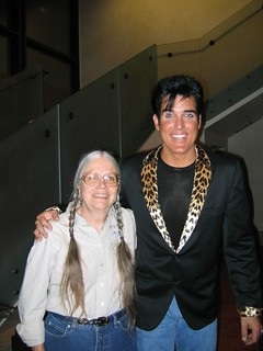 Mom with Elvis!
