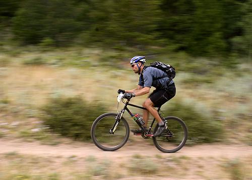 bike race action