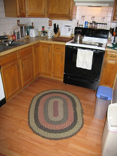 New flooring in the kitchen