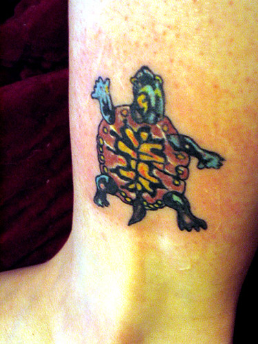Turtle tattoo wider view flickr photo sharing for Little turtle tattoo