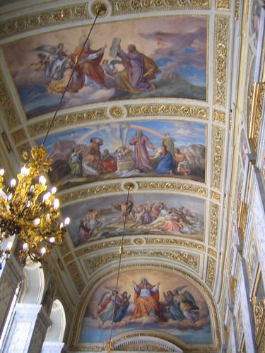 Kaple sv. Kříže: ceiling
