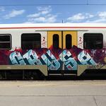 train graffiti, Ljubljana