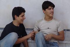 Boys inside Ummayyid Mosque