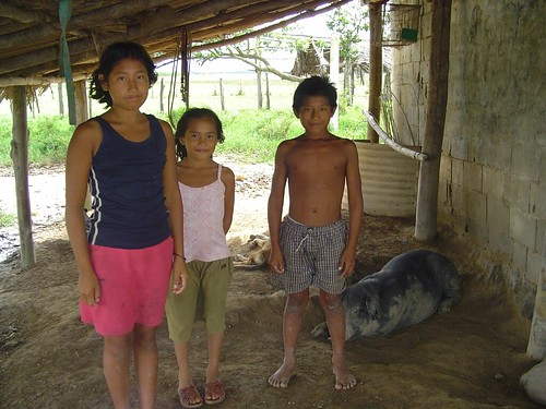 Warao Family, Rio Orinoco, Venezuela