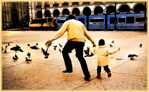Father and boy at Lisboa