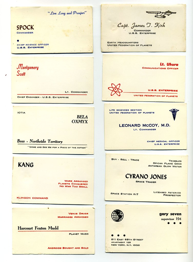 Star Trek Business Cards