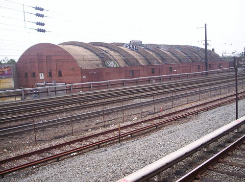 Uline Arena and the Union Station railyard