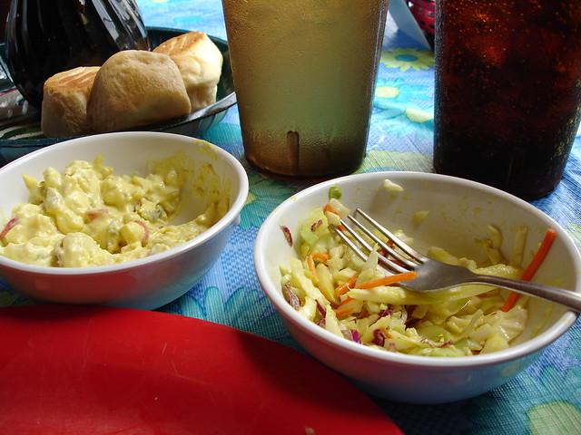 Potato Salad and Cole Slaw at Leatha's Bar-B-Que Inn, Hattiesburg MS