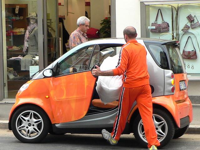 Orange Shirt, Orange Pants, Orange Car