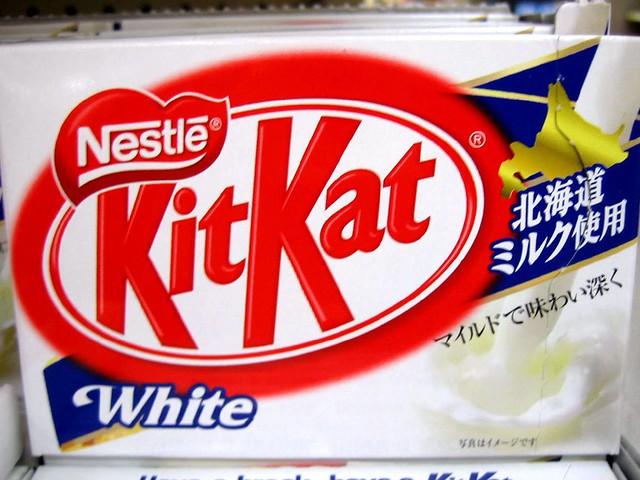 how to make white chocolate kit kat