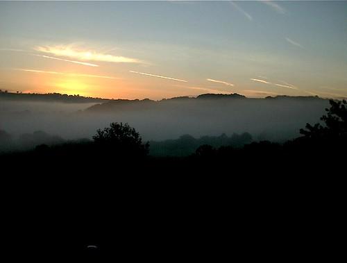 morning england mist southwest fog sunrise devon westcountry meshaw