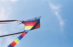 windsports, line, wind, flag, kite, blue, sky, sport kite,