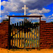 Gate to Taos Pueblo Graveyard and Church ruins