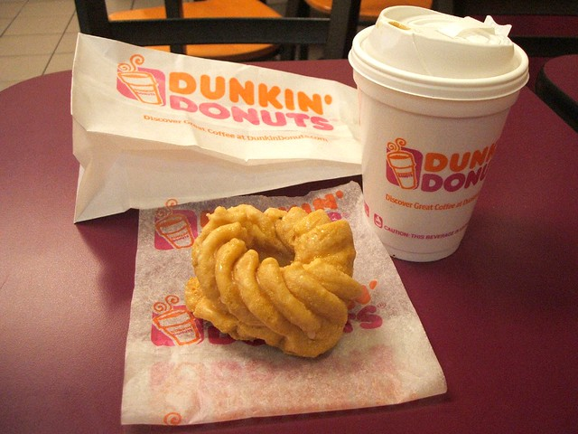 French Cruller & Coffee @ Dunkin Donuts | Flickr - Photo Sharing!
