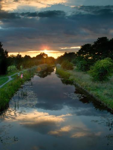 uk sunset england sky reflection water reeds canal interestingness topf50 topv555 topf75 perfect topv1111 interestingness1 slough berkshire kevday topf100 topv888 chaperone milked