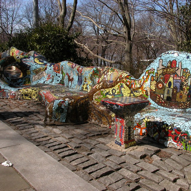 Mosaic Tile Benches Flickr Photo Sharing