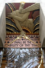 NYC - Rockefeller Center: 30 Rockefeller Plaza - Wisdom