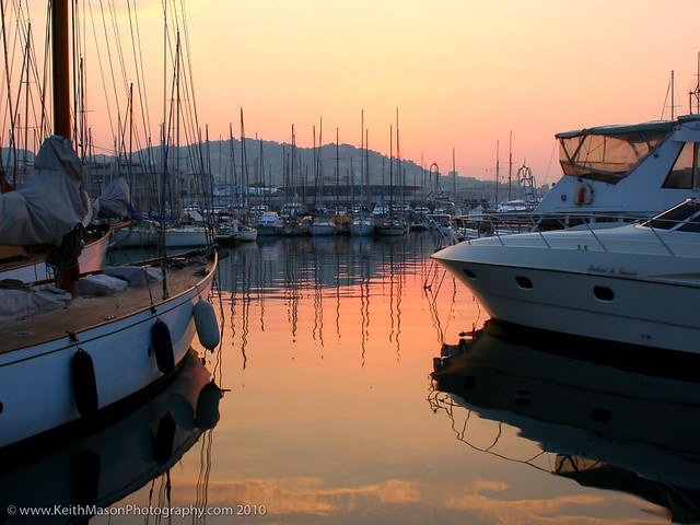 Cannes Marina at Dawn